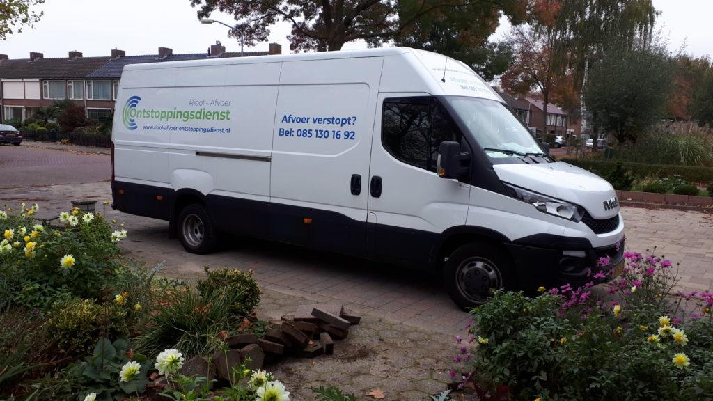 Riolering servicewagen Riool afvoer ontstoppingsdienst Tilburg
